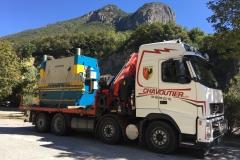 Transport d'une machine industrielle